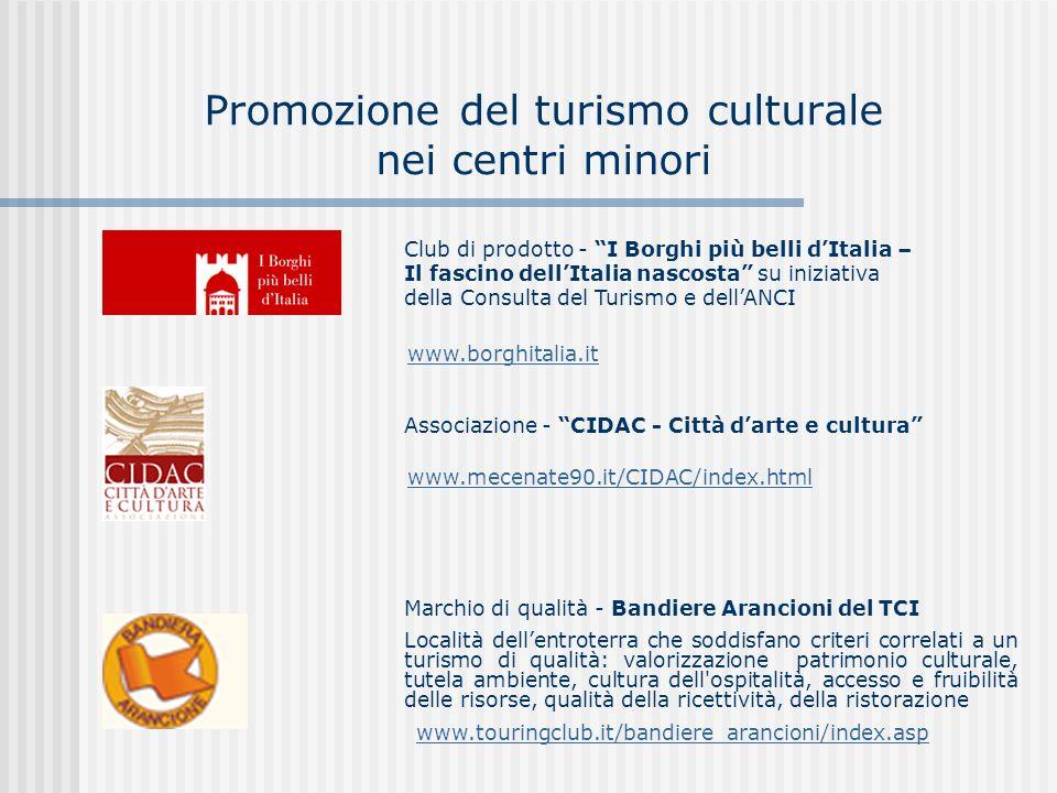 Aspetti definitori e tendenze del turismo culturale Dimensioni e peculiarità del settore culturale e del turismo culturale in Italia Comunicazione come fattore strategico di valorizzazione della cultura Gli eventi culturali Agenda