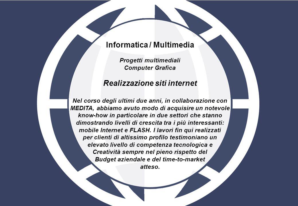 Informatica / Multimedia Progetti multimediali Computer Grafica Realizzazione siti internet Nel corso degli ultimi due anni, in collaborazione con MED