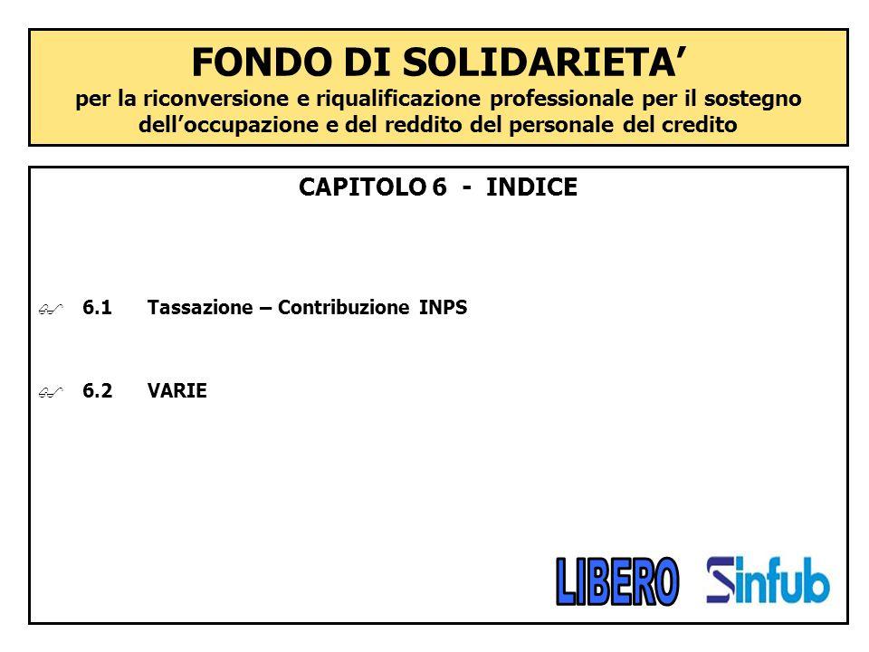FONDO DI SOLIDARIETA per la riconversione e riqualificazione professionale per il sostegno delloccupazione e del reddito del personale del credito CAP