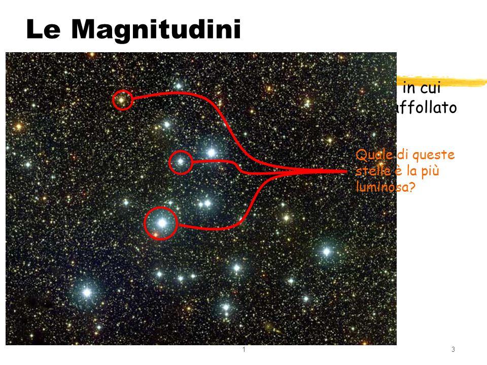 13 Guardando il cielo in una notte serena e in un zona in cui non cè inquinamento luminoso, si nota che esso è affollato di oggetti luminosi. Le Magni