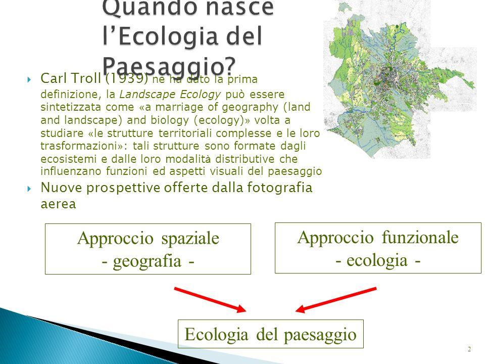 Connettività Strumenti per lo studio dei sistemi a scala di paesaggio: GIS, telerilevamento, analisi multitemporale,...