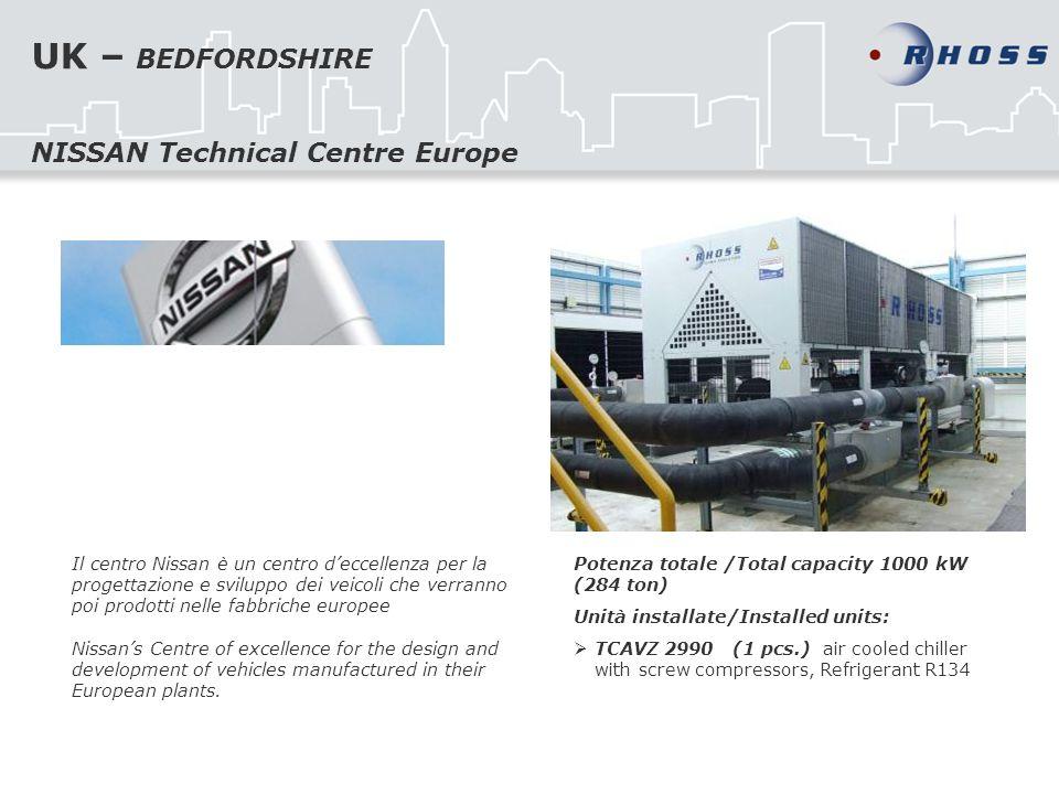 UK – BEDFORDSHIRE Il centro Nissan è un centro deccellenza per la progettazione e sviluppo dei veicoli che verranno poi prodotti nelle fabbriche europ