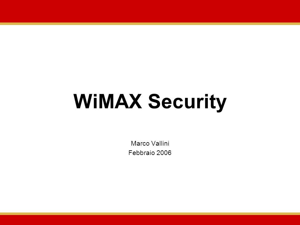 WiMAX Security Marco Vallini Febbraio 2006