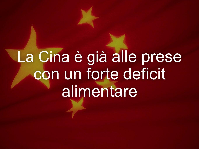 La Cina è già alle prese con un forte deficit alimentare