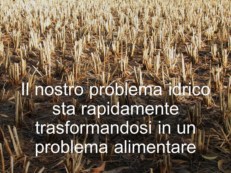 Il nostro problema idrico sta rapidamente trasformandosi in un problema alimentare