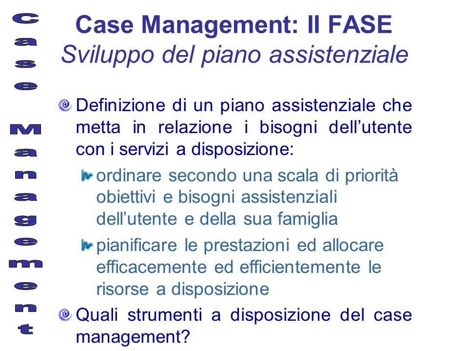 Definizione di un piano assistenziale che metta in relazione i bisogni dellutente con i servizi a disposizione: ordinare secondo una scala di priorità
