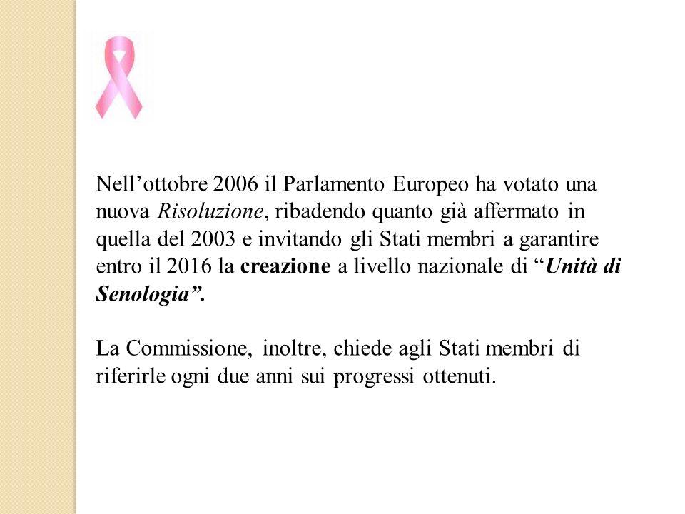 Nellottobre 2006 il Parlamento Europeo ha votato una nuova Risoluzione, ribadendo quanto già affermato in quella del 2003 e invitando gli Stati membri