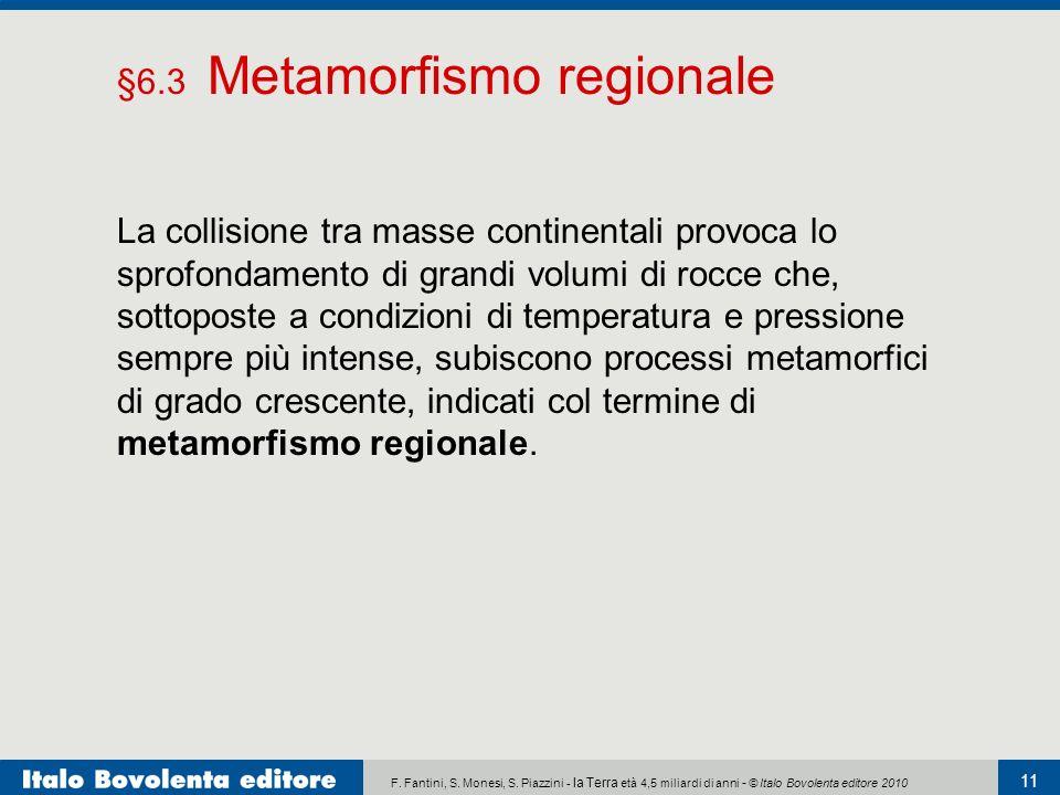 F. Fantini, S. Monesi, S. Piazzini - la Terra età 4,5 miliardi di anni - © Italo Bovolenta editore 2010 11 La collisione tra masse continentali provoc