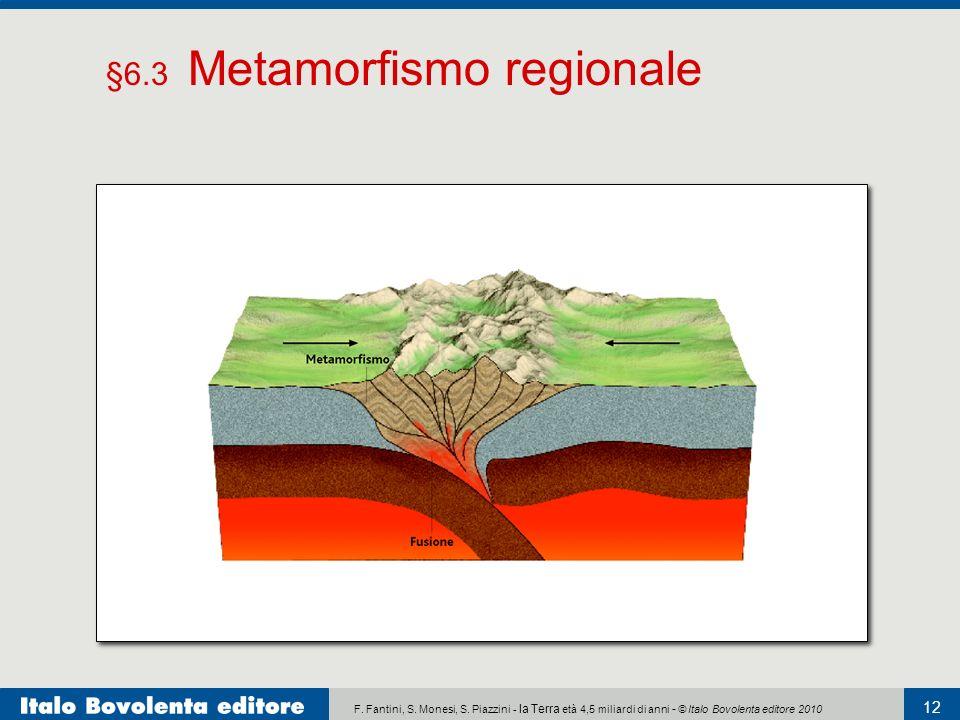 F. Fantini, S. Monesi, S. Piazzini - la Terra età 4,5 miliardi di anni - © Italo Bovolenta editore 2010 12 §6.3 Metamorfismo regionale