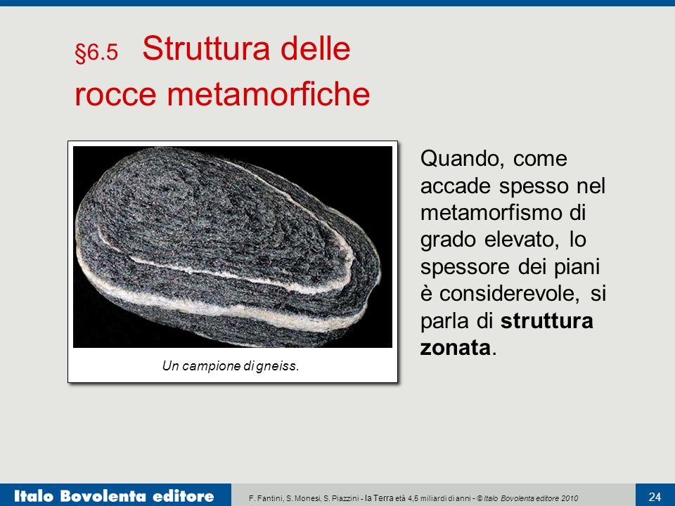 F. Fantini, S. Monesi, S. Piazzini - la Terra età 4,5 miliardi di anni - © Italo Bovolenta editore 2010 24 Quando, come accade spesso nel metamorfismo