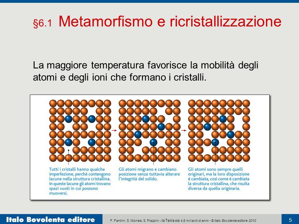 F. Fantini, S. Monesi, S. Piazzini - la Terra età 4,5 miliardi di anni - © Italo Bovolenta editore 2010 5 La maggiore temperatura favorisce la mobilit