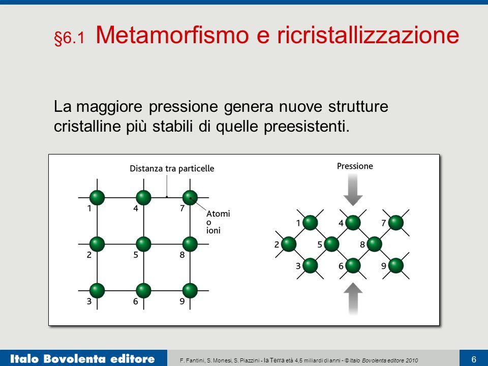 F. Fantini, S. Monesi, S. Piazzini - la Terra età 4,5 miliardi di anni - © Italo Bovolenta editore 2010 6 La maggiore pressione genera nuove strutture
