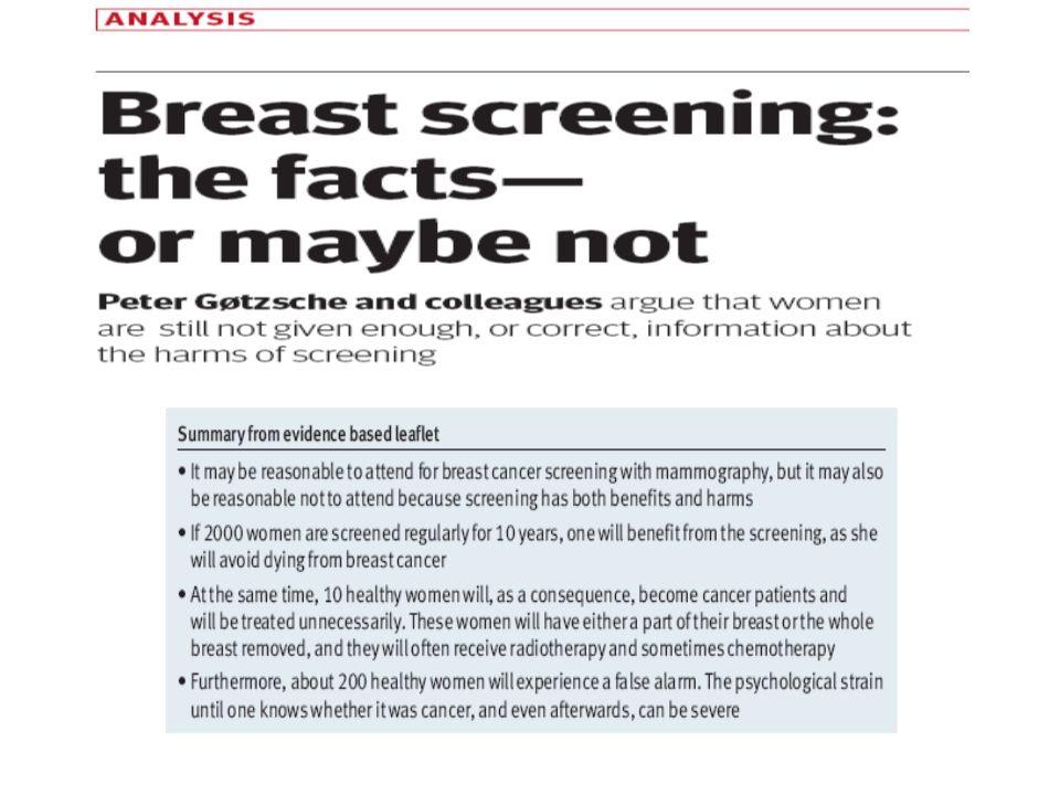 SOVRADIAGNOSI La proporzione di casi di cancro confermati istologicamente e diagnosticati a seguito di un episodio di screening che non sarebbero giunti allattenzione clinica se non fosse stato eseguito.
