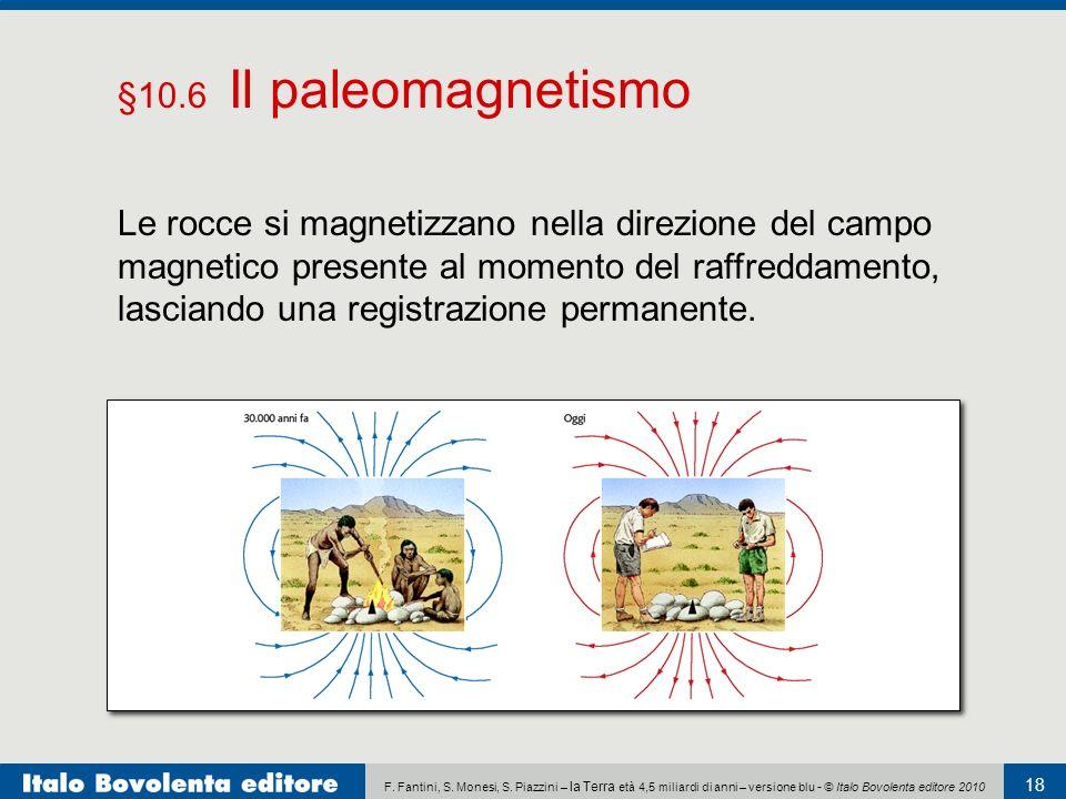 F. Fantini, S. Monesi, S. Piazzini – la Terra età 4,5 miliardi di anni – versione blu - © Italo Bovolenta editore 2010 18 Le rocce si magnetizzano nel