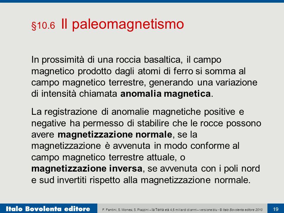 F. Fantini, S. Monesi, S. Piazzini – la Terra età 4,5 miliardi di anni – versione blu - © Italo Bovolenta editore 2010 19 La registrazione di anomalie