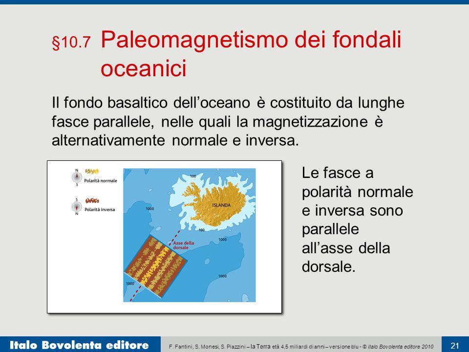 F. Fantini, S. Monesi, S. Piazzini – la Terra età 4,5 miliardi di anni – versione blu - © Italo Bovolenta editore 2010 21 Il fondo basaltico dellocean