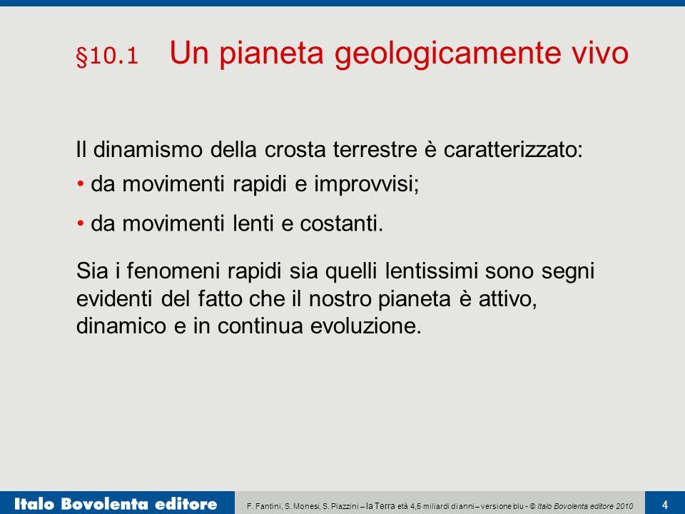 F. Fantini, S. Monesi, S. Piazzini – la Terra età 4,5 miliardi di anni – versione blu - © Italo Bovolenta editore 2010 4 Il dinamismo della crosta ter