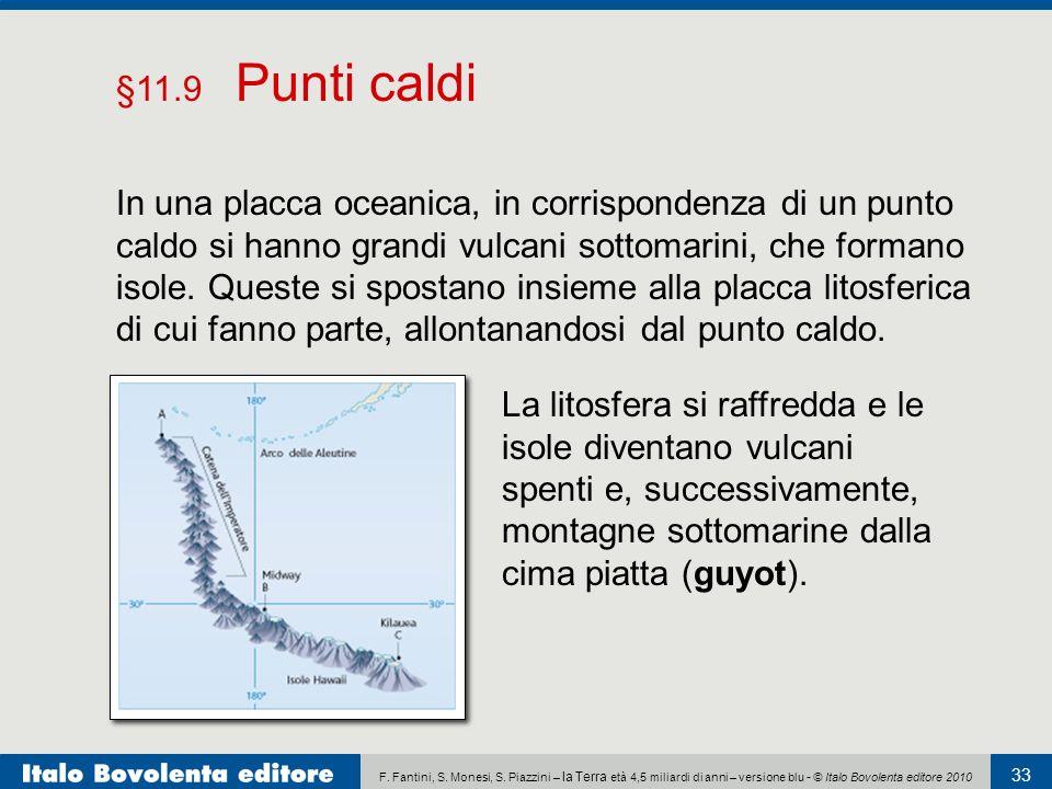 F. Fantini, S. Monesi, S. Piazzini – la Terra età 4,5 miliardi di anni – versione blu - © Italo Bovolenta editore 2010 33 In una placca oceanica, in c