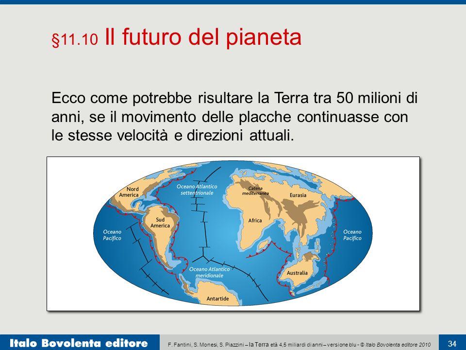 F. Fantini, S. Monesi, S. Piazzini – la Terra età 4,5 miliardi di anni – versione blu - © Italo Bovolenta editore 2010 34 Ecco come potrebbe risultare