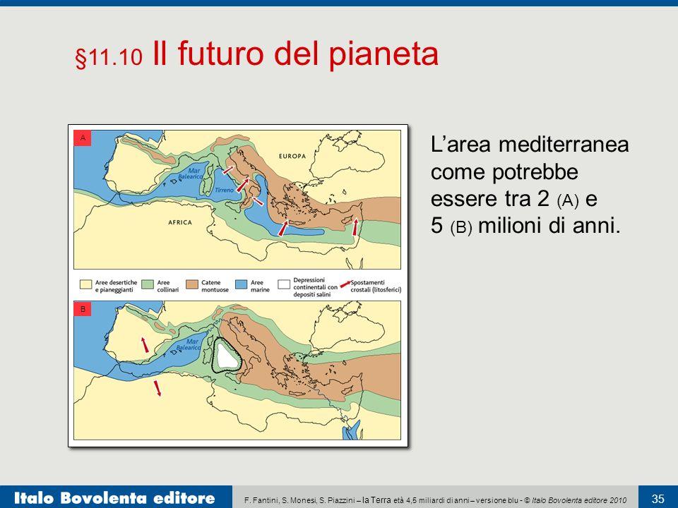 F. Fantini, S. Monesi, S. Piazzini – la Terra età 4,5 miliardi di anni – versione blu - © Italo Bovolenta editore 2010 35 Larea mediterranea come potr