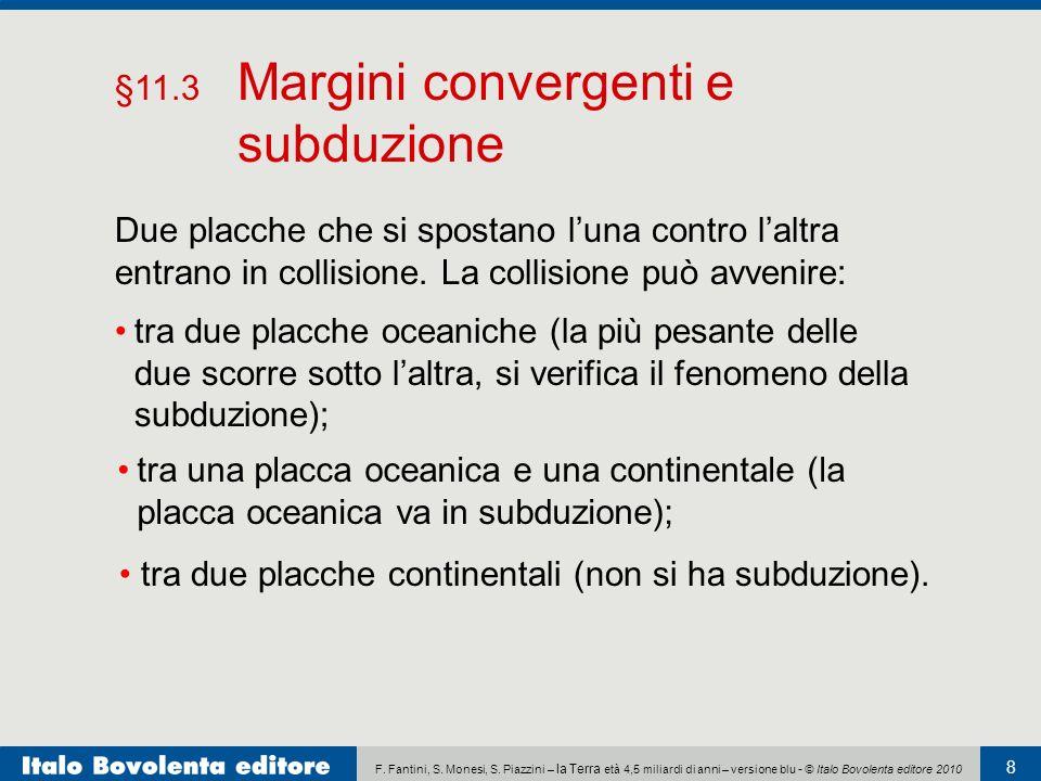 F. Fantini, S. Monesi, S. Piazzini – la Terra età 4,5 miliardi di anni – versione blu - © Italo Bovolenta editore 2010 8 Due placche che si spostano l