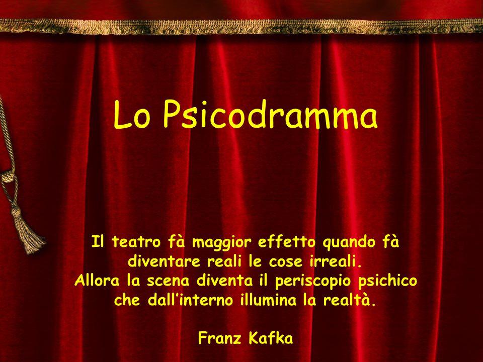 Lo Psicodramma Il teatro fà maggior effetto quando fà diventare reali le cose irreali. Allora la scena diventa il periscopio psichico che dallinterno