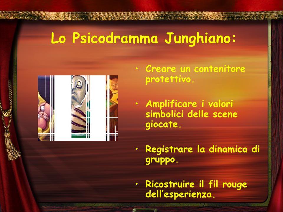 Lo Psicodramma Junghiano: Creare un contenitore protettivo. Amplificare i valori simbolici delle scene giocate. Registrare la dinamica di gruppo. Rico