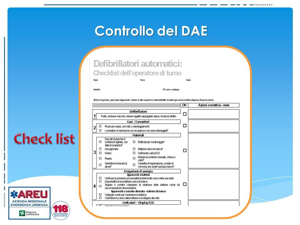 Controllo del DAE