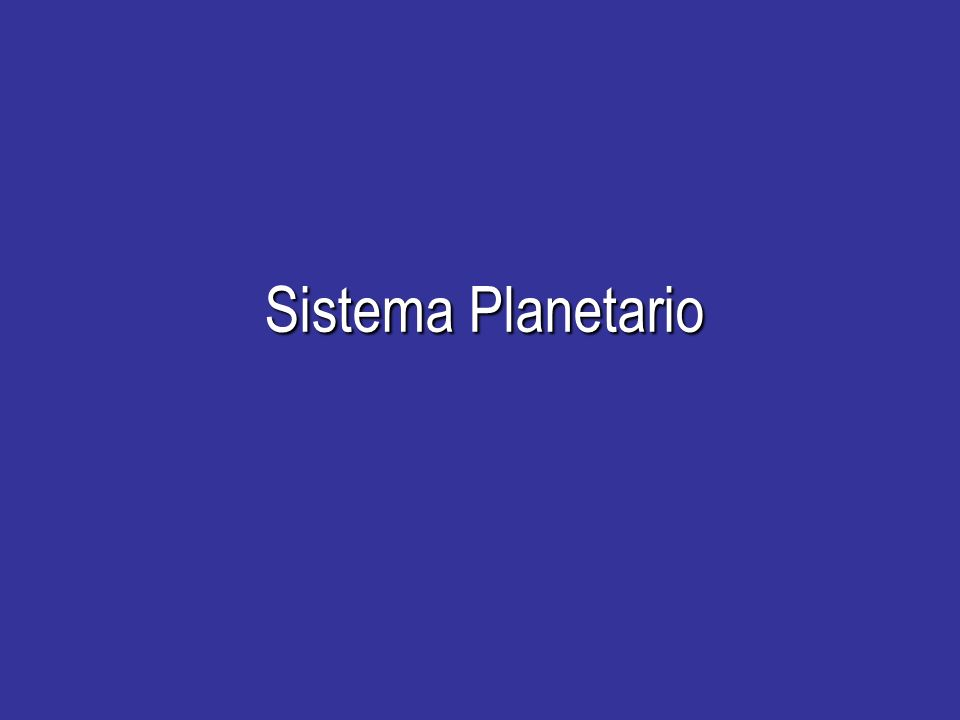 Progetto Educativo 2008/2009 Sistema Planetario