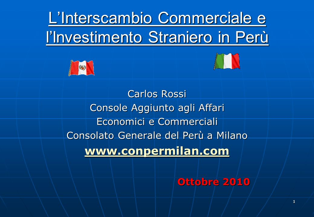 11 Paese Monetary Freedom Investor Protection Perù619 Italia1743 Messico3931 Brasile4256 Colombia565 Cile6431 Argentina12189 Venezuela127127 Per ù in Best Countries for Business 2010 Per ù in Best Countries for Business 2010 Fonte: www.forbes.comwww.forbes.com