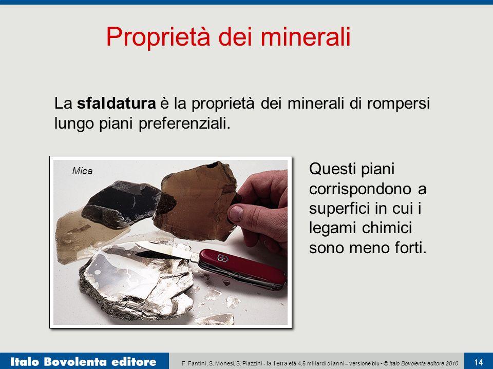 F. Fantini, S. Monesi, S. Piazzini - la Terra età 4,5 miliardi di anni – versione blu - © Italo Bovolenta editore 2010 14 La sfaldatura è la proprietà