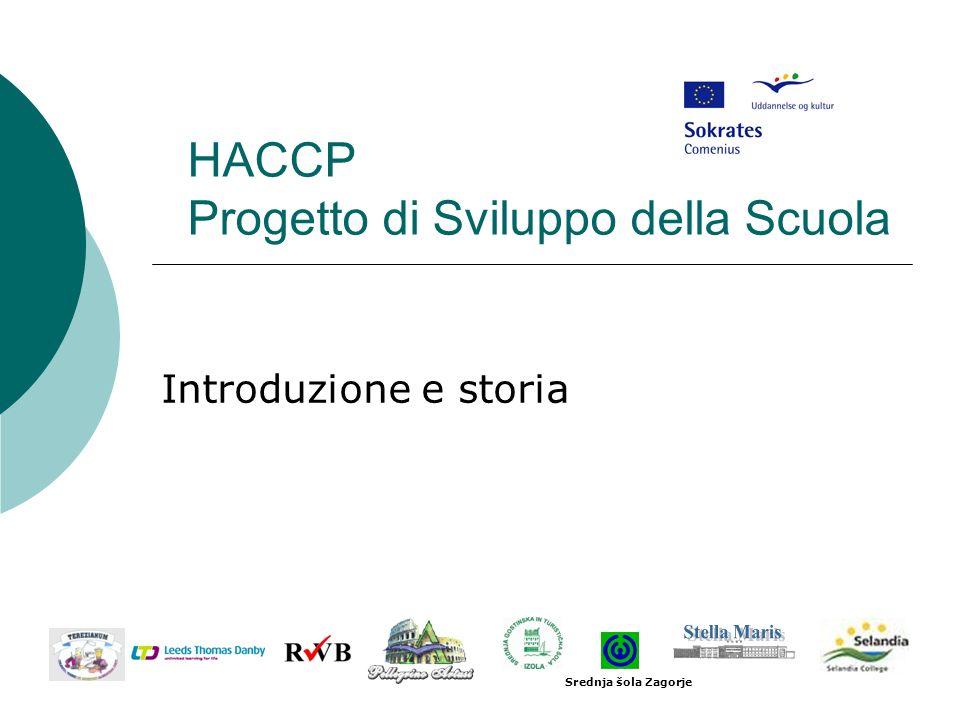HACCP Progetto di Sviluppo della Scuola Introduzione e storia Srednja šola Zagorje