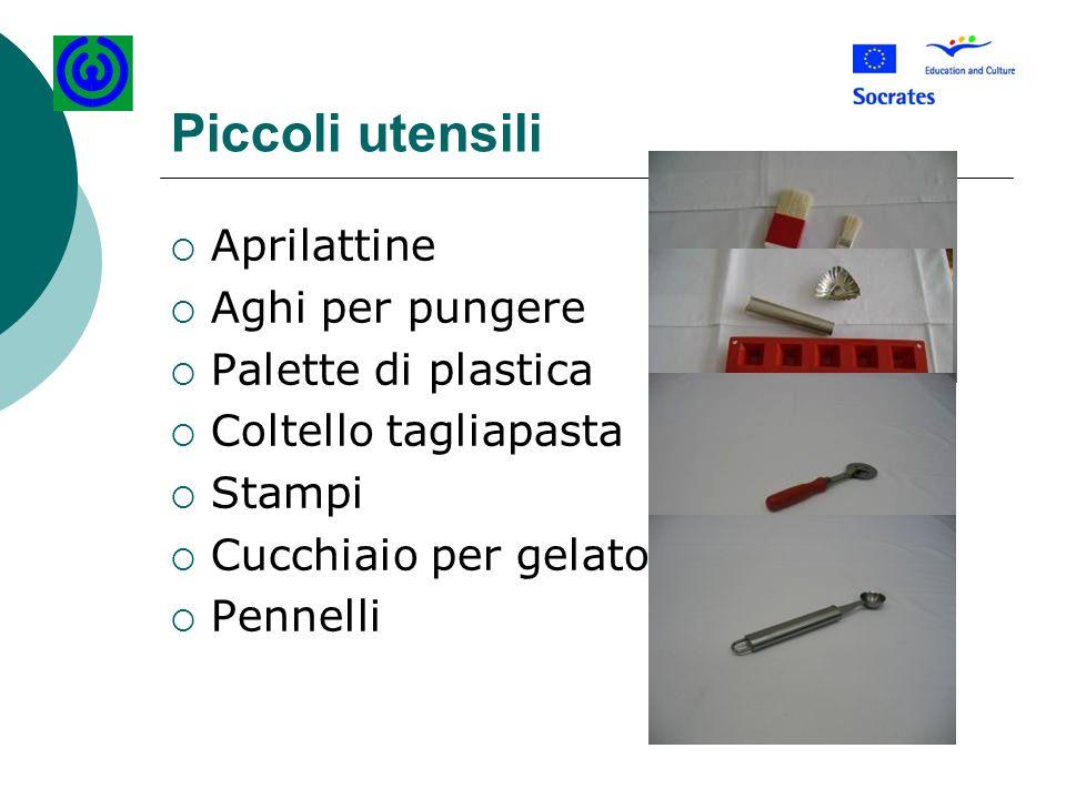 Piccoli utensili Aprilattine Aghi per pungere Palette di plastica Coltello tagliapasta Stampi Cucchiaio per gelato Pennelli