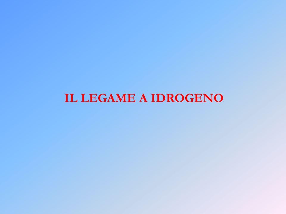 IL LEGAME A IDROGENO