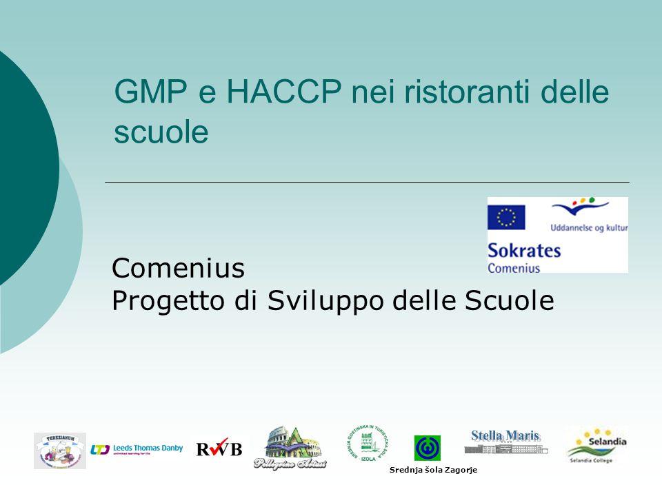 GMP e HACCP nei ristoranti delle scuole Comenius Progetto di Sviluppo delle Scuole Srednja šola Zagorje