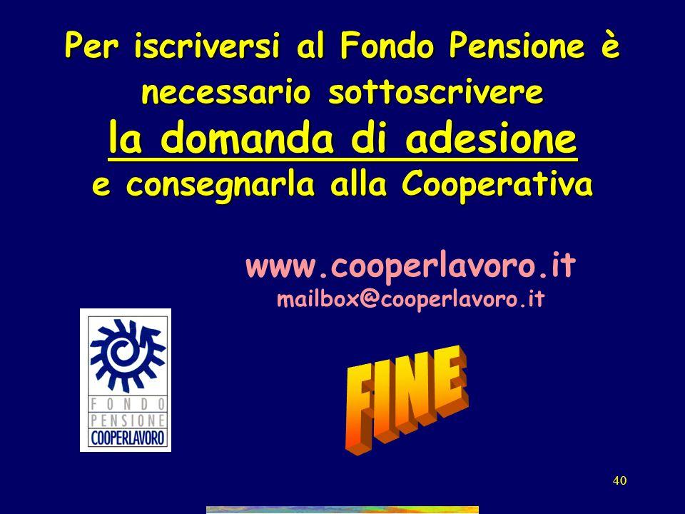 39 La legge delega La previdenza pubblica. –decontribuzione, fiscalizzazione, niente! –incentivi per restare al lavoro, pensioni danzianità, –incremen