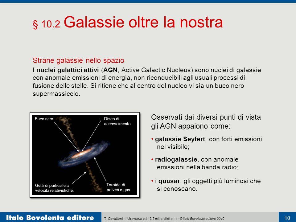 T. Cavattoni - lUniverso età 13,7 miliardi di anni - © Italo Bovolenta editore 2010 10 § 10.2 Galassie oltre la nostra Strane galassie nello spazio I