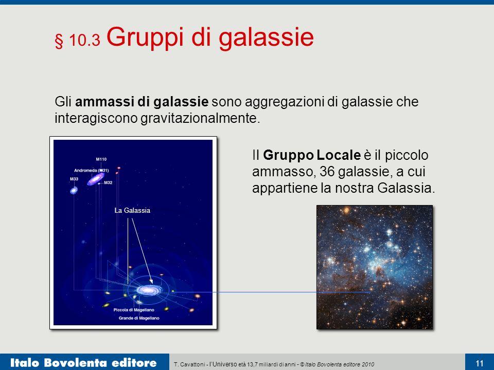 T. Cavattoni - lUniverso età 13,7 miliardi di anni - © Italo Bovolenta editore 2010 Il Gruppo Locale è il piccolo ammasso, 36 galassie, a cui appartie