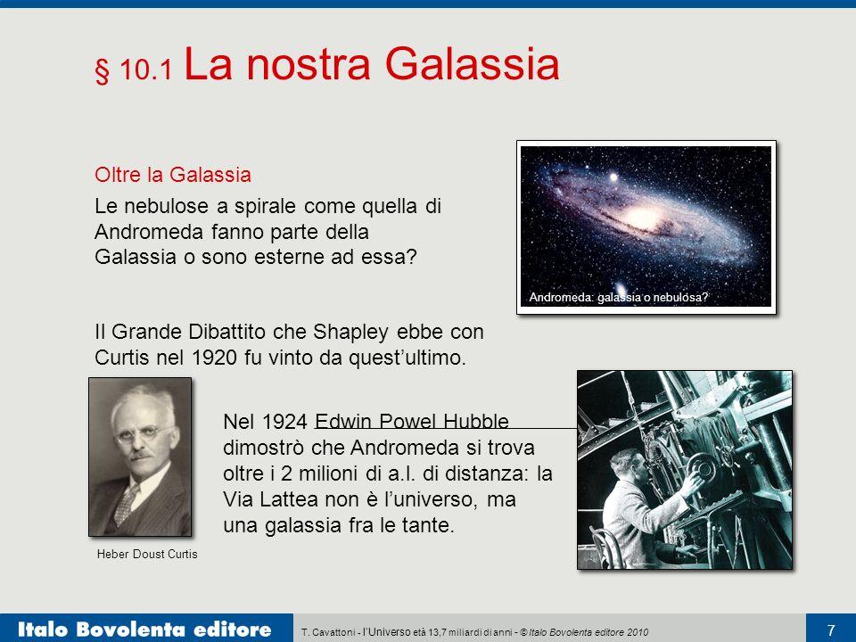 T. Cavattoni - lUniverso età 13,7 miliardi di anni - © Italo Bovolenta editore 2010 7 § 10.1 La nostra Galassia Oltre la Galassia Le nebulose a spiral