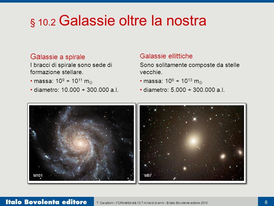T. Cavattoni - lUniverso età 13,7 miliardi di anni - © Italo Bovolenta editore 2010 8 § 10.2 Galassie oltre la nostra M101 Ga lassie a spirale I bracc