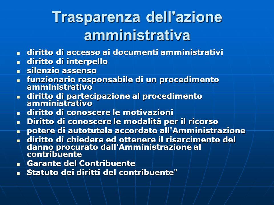 Trasparenza dell'azione amministrativa diritto di accesso ai documenti amministrativi diritto di accesso ai documenti amministrativi diritto di interp