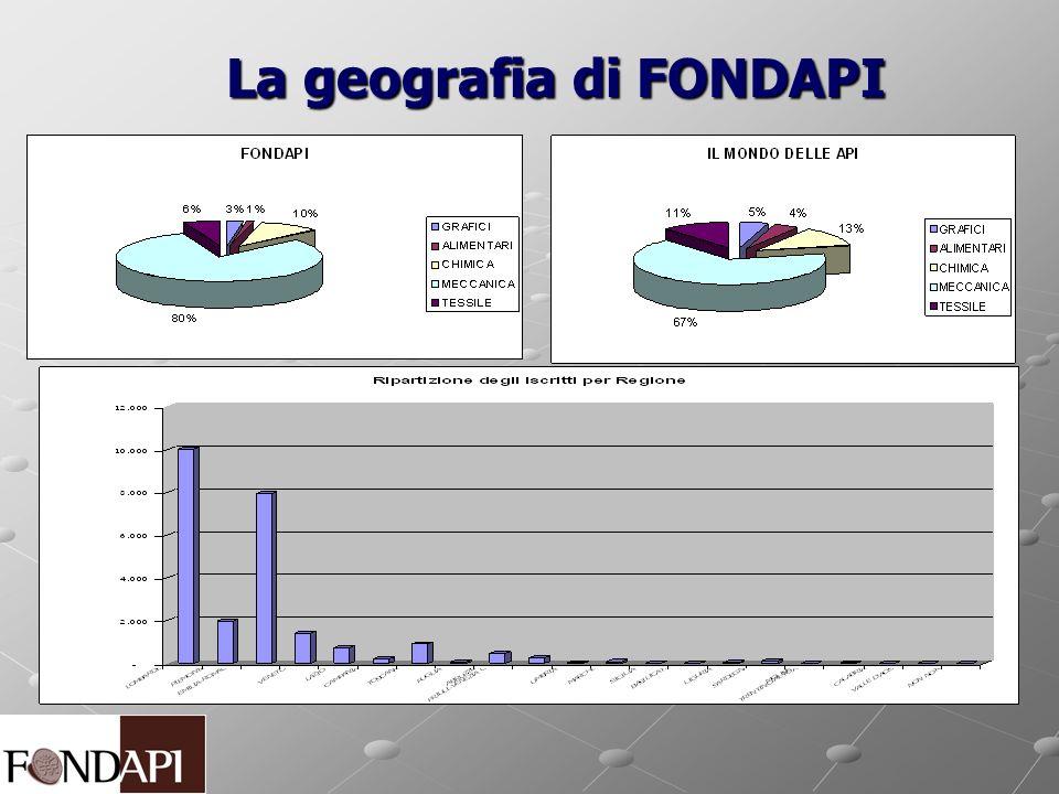 La geografia di FONDAPI