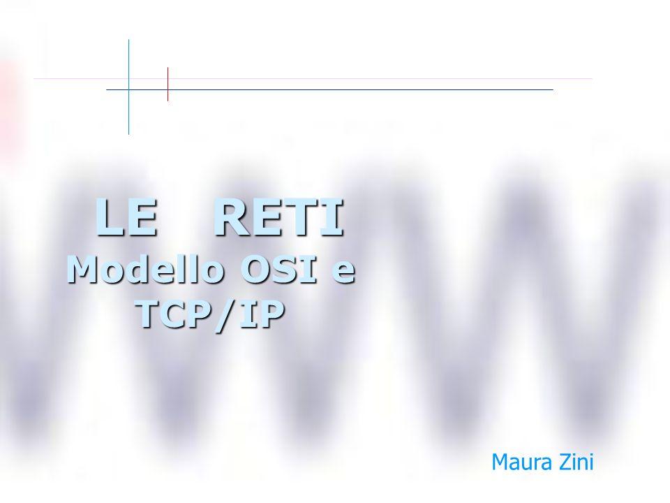 LE RETI Modello OSI e TCP/IP LE RETI Modello OSI e TCP/IP Maura Zini