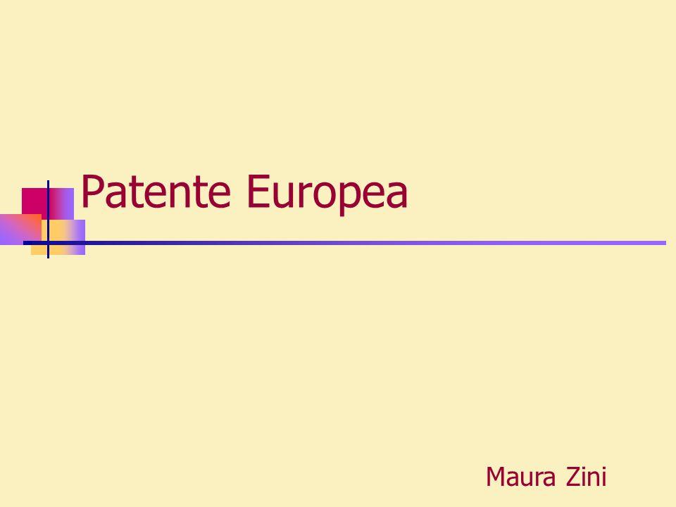 Patente Europea Maura Zini