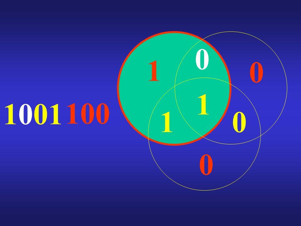 1001 1 0 1 0 1 0 0 100