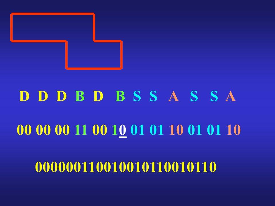 D D D B D B S S A S S A 00 00 00 11 00 10 01 01 10 01 01 10
