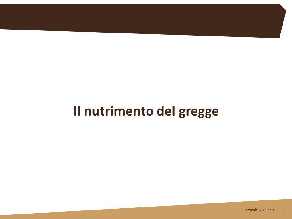 Pasquale Di Nunzio 1 Il nutrimento del gregge