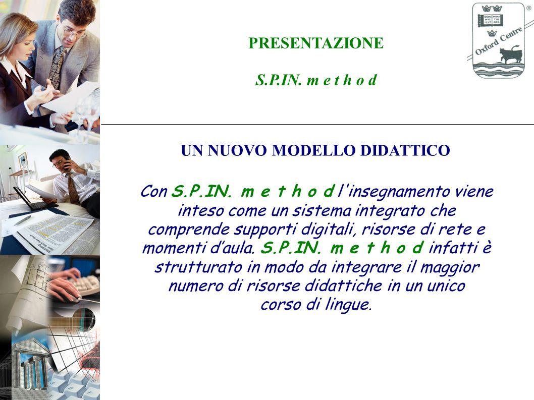 PRESENTAZIONE S.P.IN. m e t h o d Formazione con il modello Blended Learning