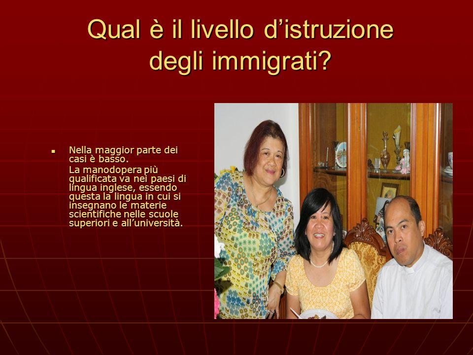 Qual è il livello distruzione degli immigrati? Nella maggior parte dei casi è basso. Nella maggior parte dei casi è basso. La manodopera più qualifica