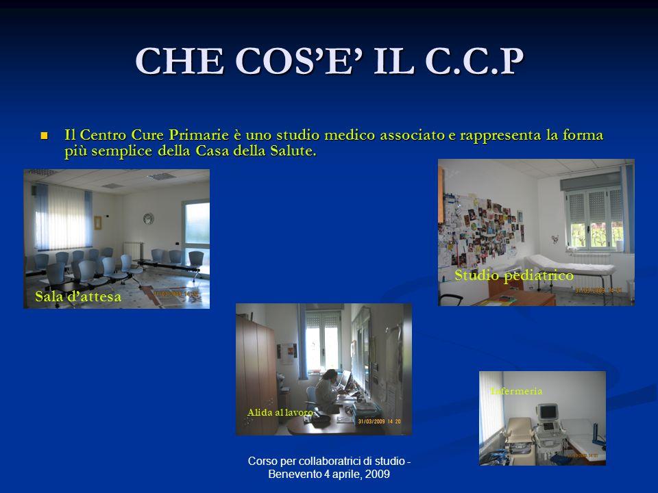 Corso per collaboratrici di studio - Benevento 4 aprile, 2009 ORGANIZZAZIONE DEL C.C.P Lo studio e aperto 12 h al giorno; La segreteria è operativa dalle 8.30 alle 19.30 ( e oltre !!!.